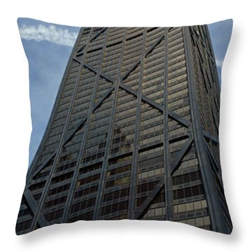 Low Angle View Of A Building, Hancock Throw Pillow