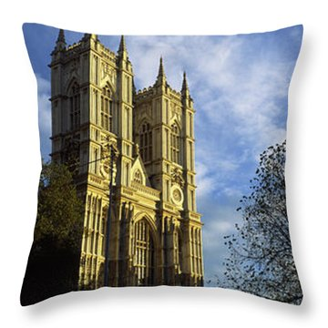 Low Angle View Of An Abbey, Westminster Throw Pillow by Panoramic Images