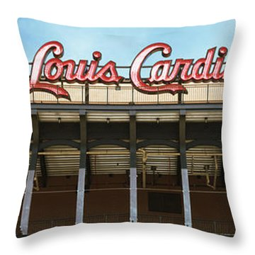 Low Angle View Of The Busch Stadium Throw Pillow