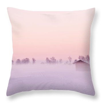 Low Fog Throw Pillow
