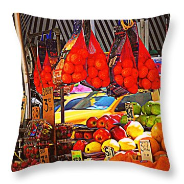 Throw Pillow featuring the photograph Low-hanging Fruit by Miriam Danar