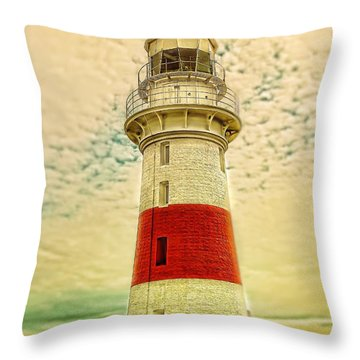 Throw Pillow featuring the photograph Low Head Lighthouse by Wallaroo Images