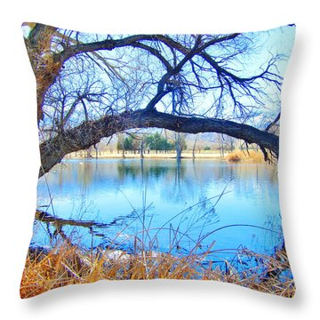 Low Limbs Throw Pillow
