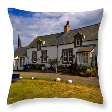 Low Newton By The Sea Throw Pillow by Louise Heusinkveld