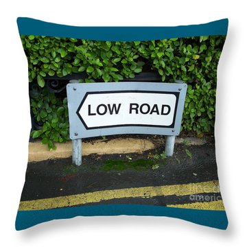 Low Road Throw Pillow