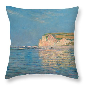 Low Tide At Pourville Throw Pillow
