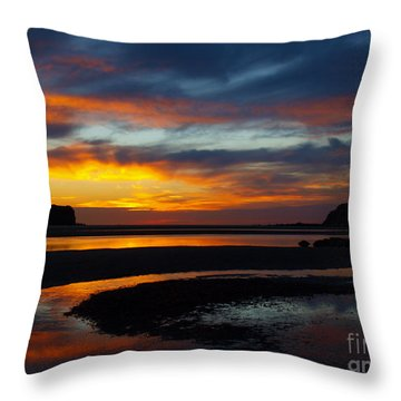Throw Pillow featuring the photograph Low Tide At Sunrise by Trena Mara