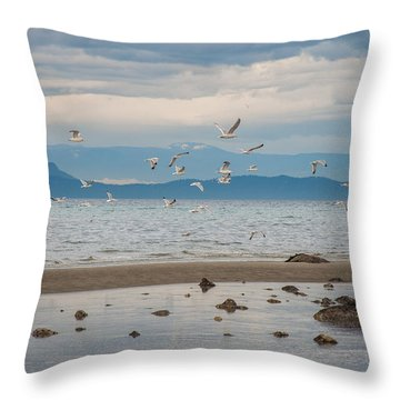 Herring Season  Throw Pillow
