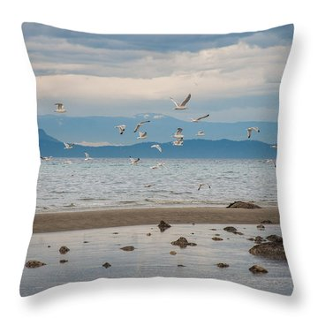Herring Season  Throw Pillow
