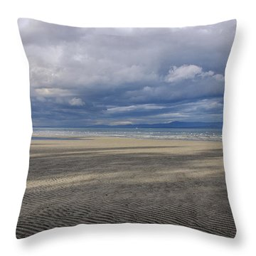 Low Tide Sandscape Throw Pillow