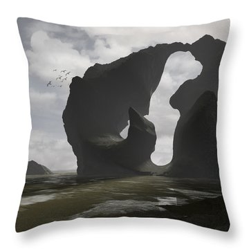 Low Tide Throw Pillow by Cynthia Decker