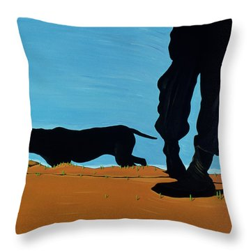 Low Tide In Chestertown, 1999 Throw Pillow