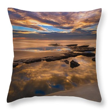 Low Tide Reflections Throw Pillow