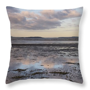 Low Tide Reflections Throw Pillow by Priya Ghose