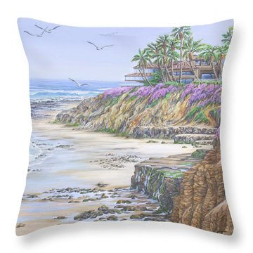 Low Tide Solana Beach Throw Pillow