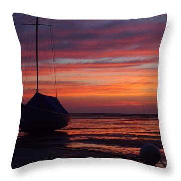 Sunrise At Low Tide Throw Pillow by Dianne Cowen