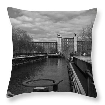 Lowell Ma Architecture Bw Throw Pillow
