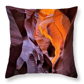 Lower Antelope Glow Throw Pillow by Jerry Fornarotto