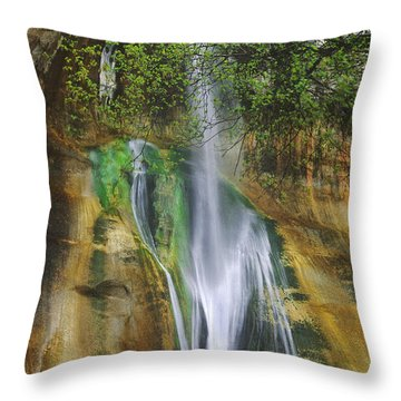 Lower Calf Creek Falls Escalante Grand Staircase National Monument Utah Throw Pillow