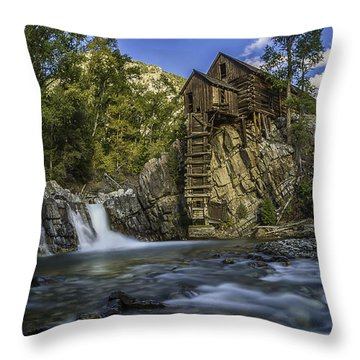 Lower Crystal Mill  Throw Pillow