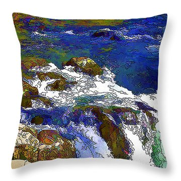 Lower Falls Mccloud River Throw Pillow