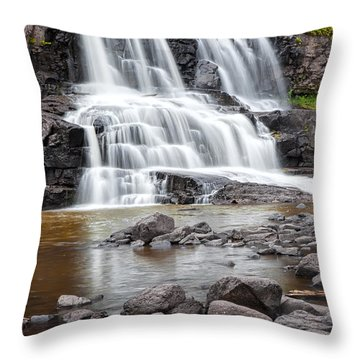 Lower Gooseberry Falls Throw Pillow