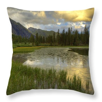 Lower Ice Lake Throw Pillow by Alan Vance Ley