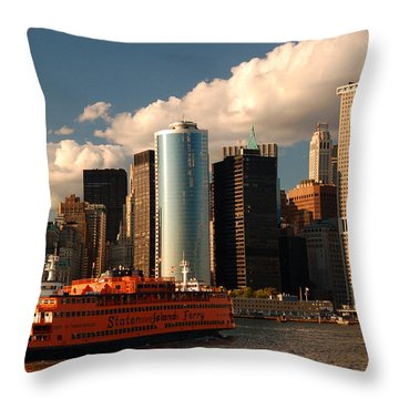 Lower Manhattan  Throw Pillow by James Kirkikis