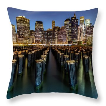 Throw Pillow featuring the photograph Lower Manhattan by Mihai Andritoiu