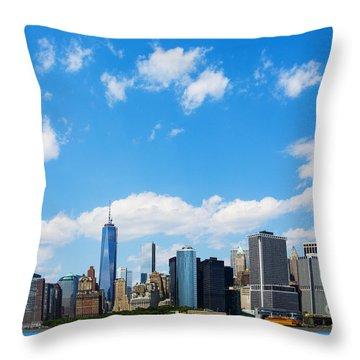 Lower Manhattan New York City Throw Pillow by Diane Diederich