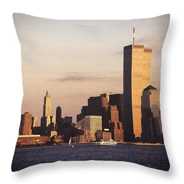 Lower Manhattan World Trade Center Throw Pillow