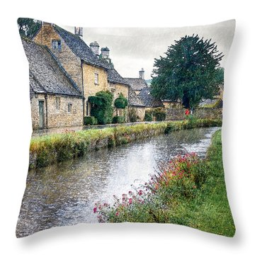 Lower Slaughter Throw Pillow by William Beuther