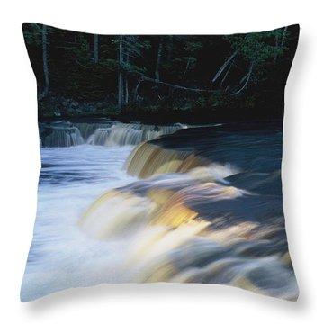 Throw Pillow featuring the photograph Lower Tahquamenon Falls by Randy Pollard