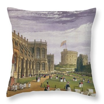 Lower Ward With A View Of St Georges Throw Pillow