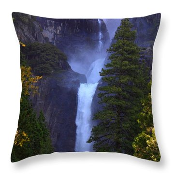 Lower Yosemite Falls Throw Pillow
