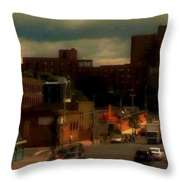 Throw Pillow featuring the photograph Lowering Clouds by Miriam Danar