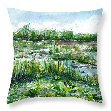 Loxahatchee Marsh Throw Pillow