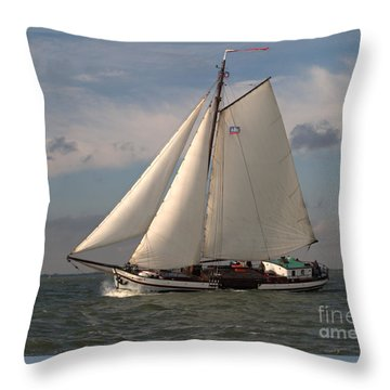 Throw Pillow featuring the photograph Loyal Winds by Luc Van de Steeg