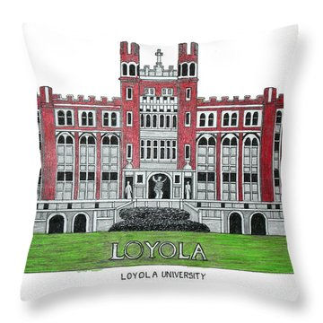 Loyola University New Orleans Throw Pillow by Frederic Kohli
