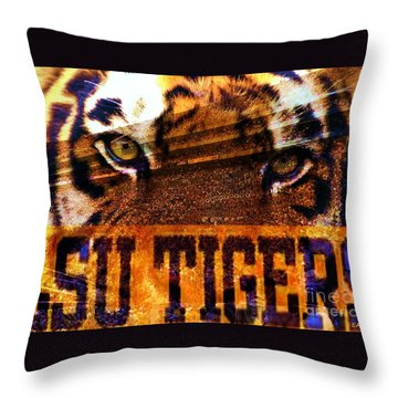 Lsu - Death Valley Throw Pillow