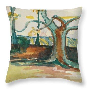 Lsu Oaks Cypress Knees Throw Pillow