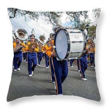 Lsu Tigers Band 3 Throw Pillow by Steve Harrington
