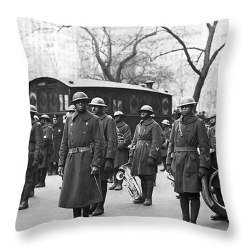 Lt. James Reese Europe's Band Throw Pillow by Underwood Archives