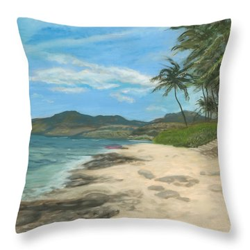 Lualualei Beach Throw Pillow