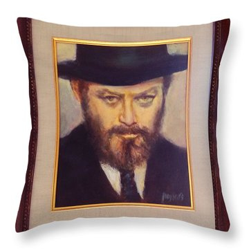 Lubavitcher Rebbe  Throw Pillow