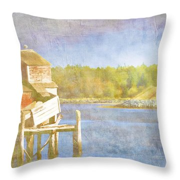 Lubec Maine To Campobello Island Throw Pillow