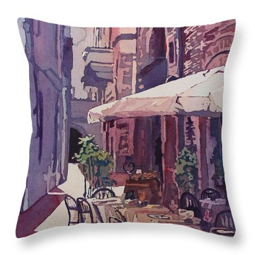 Lucca Cafe Throw Pillow