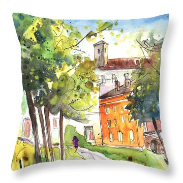 Lucca In Italy 02 Throw Pillow by Miki De Goodaboom