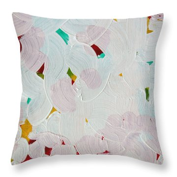 Throw Pillow featuring the painting Lucent Entanglement C2013 by Paul Ashby