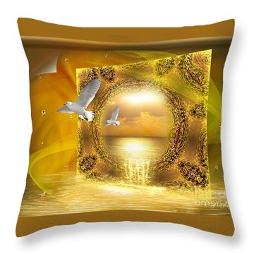 Throw Pillow featuring the digital art Lucid Dream - Surreal Art By Giada Rossi by Giada Rossi